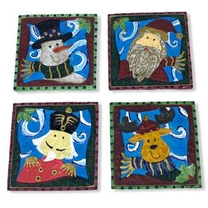 4 Holiday Christmas Drink Coasters